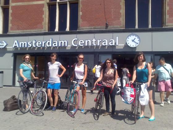 Sur le départ en gare d'Amsterdam